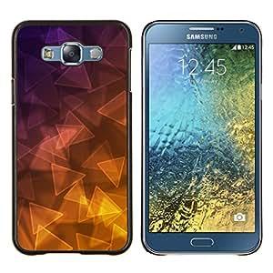 Stuss Case / Funda Carcasa protectora - Triángulo púrpura oro amarillo - Samsung Galaxy E7 E700