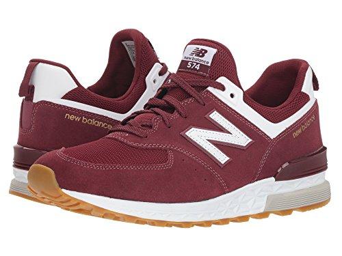 [new balance(ニューバランス)] メンズランニングシューズ?スニーカー?靴 MS574v1 Classic Burgundy/White 7.5 (25.5cm) D - Medium