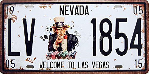 - Welcome to Las Vegas, Embossed Metal Tin Sign, Wall Decorative Sign By 66reto
