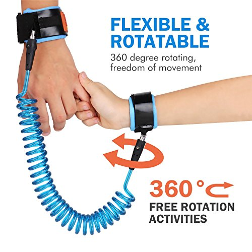 Anti Lost Wrist Link | Blue 2 Meters| For Baby,Toddler & Kids | Safety wrist link Toddler safety...