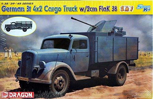 Dragon Models 1/35 German 3T 4x2 Truck with 2cm Flak 38 2-in-1 Smart Kit