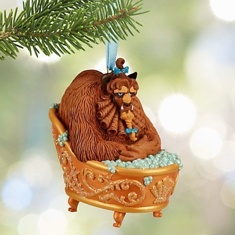 Disney Beauty and the Beast Beast Sketchbook Ornament Beast in Bath Tub 2017