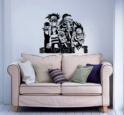 Wall Vinyl Decals Crazy Person Ink Style Sticker Art Home ...
