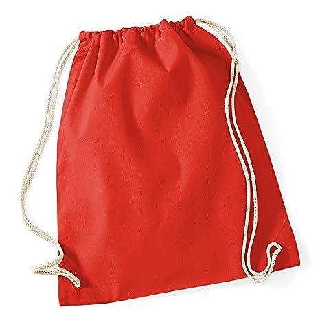 Sac de gym 100% coton de qualité personnalisable / Sac à dos - sac de jute - sac de sport - sac pour les loisirs comme super cadeau Adulte (unisexe) Orange vanVerden T999-Orange
