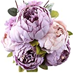 Duovlo-Fake-Flowers-Vintage-Artificial-Peony-Silk-Flowers-Wedding-Home-DecorationPack-of-1-New-Purple