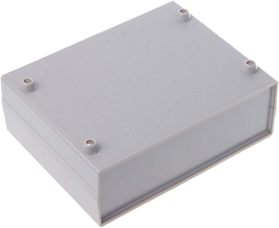 fivekim Bo/îte de Projet /électronique en Plastique Bo/îtier de bo/îtier dinstrument de bo/îtier DIY 130X170X55Mm Bo/îte en Plastique Gris