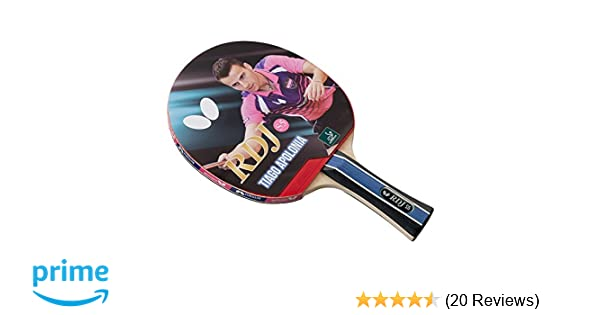 Amazon.com : Butterfly RDJ S5 Table Tennis Racket - ITTF Approved Ping Pong Paddle - Ping Pong Racket with Thick Sponge For More Speed : Sports & Outdoors