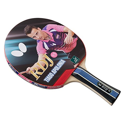 Butterfly RDJ S5 Table Tennis Racket - ITTF Approved Ping Pong Paddle - Ping Pong Racket with Thick Sponge For More Speed