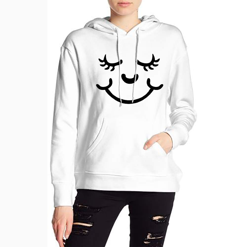 Sweet Smile Custom Drawstring Sweatshirts for Women