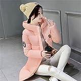 Feilongzaitianba Long Parkas Female Women Winter Coat Cotton Winter Jacket Womens Outwear Parkas For Women Winter Outwear Pink Xxxl