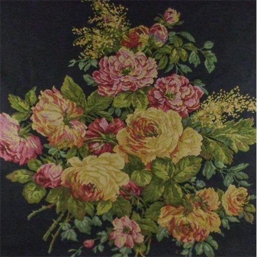 Black/Multi Texnova Floral Tapestry Home Decorating Fabric, Fabric By the (Floral Tapestry Fabric)