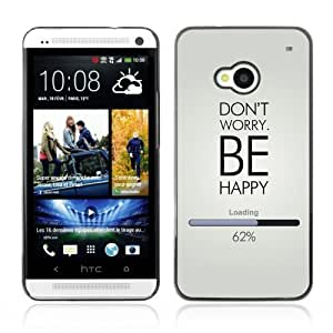 YOYOSHOP [Don't Worry Be Happy ] HTC One M7 Case