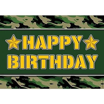 idealWigsNet Cartel del Feliz cumpleaños del ejército - A3 ...