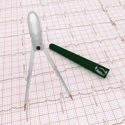Green Penguin Pocket EKG Caliper