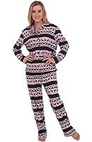 Del Rossa Women's Flannel Pajama Set, Long Cotton Pjs