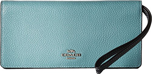 COACH Women's Color Block Slim Wallet Sv/Marine Multi One Size by Coach