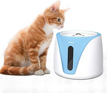 Kindax Fuente para Mascotas Bebedero para Gatos y Perros Automático Silencioso con Filtro de Carbón - 2L: Amazon.es: Productos para mascotas