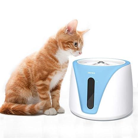 Kindax Fuente para Mascotas Bebedero para Gatos y Perros Automático Silencioso con Filtro de Carbón - 2L