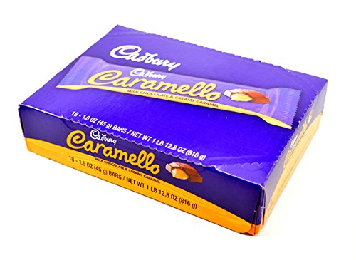 Caramello Bar - Cadbury Caramello Milk Chocolate & Creamy Caramel Bars - 18/Box