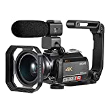 4K Camcorder, Video Camera ORDRO AC5 12x Optical Zoom 3.1'' IPS Touch Screen
