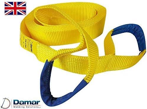 2mtr Damar Webbing Solutions Ltd Tow Rope Strap 10ton Heavy Duty UK