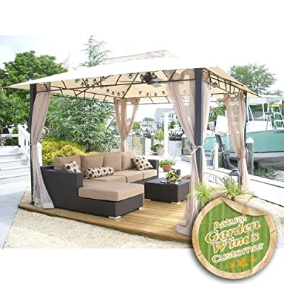 Replacement Canopy Top Cover for Target Wellington Gazebo - RipLock 500 : Garden & Outdoor