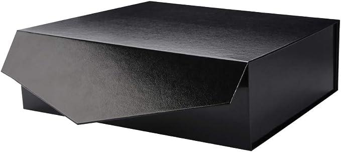 Packhome Caja de regalo de 14 x 24 x 4.5 pulgadas, caja de regalo grande con tapa, caja de regalo resistente, caja de regalo plegable con cierre magnético (grabado): Amazon.es: Hogar