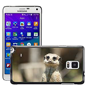 Super Stella Slim PC Hard Case Cover Skin Armor Shell Protection // M00104593 Meerkat Animal View Sad Asking // Samsung Galaxy Note 4 IV