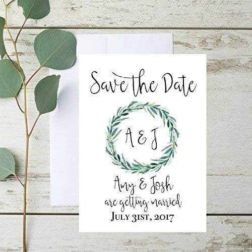 Matching Save The Date And Wedding Invitations: Amazon.com: Rustic Save The Date Cards, Rustic Save The