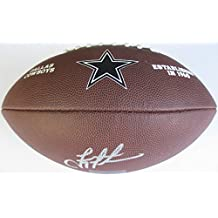 Troy Aikman, Dallas Cowboys, Signed, Autographed, NFL Logo Football, a COA with the Proof Photo of Troy Signing Will Be Included