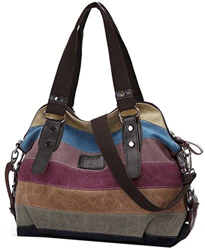 Coofit Multicolor Borsa Tela Delle Signore Borsetta Messenger Bag �?