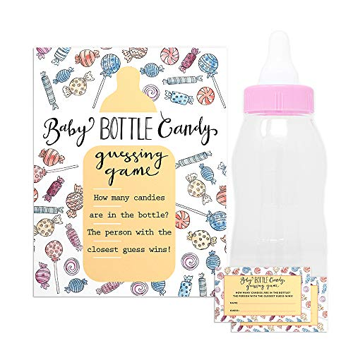 Baby Shower Candy Guessing Game with 30 Cards and 11