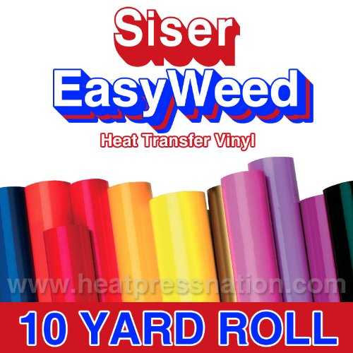 Siser Easyweed Fluorescent Pink 15'' x 10' Iron on Heat Transfer Vinyl Roll by Coaches World by Easyweed