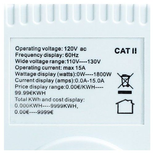 TOOGOO(R) TS-836A Plug Power Meter Energy Watt Voltage Amps Meter with Electricity Usage by TOOGOO(R) (Image #4)