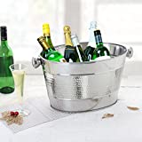 storeindya Party Tub/Party Tubs for Drinks/Party Tubs for Beverages/Metal Beverage Tub/Galvanized Tub/Oval Galvanized Tub/Round Steel Tub Anti Rustic (Oval Party Collection)
