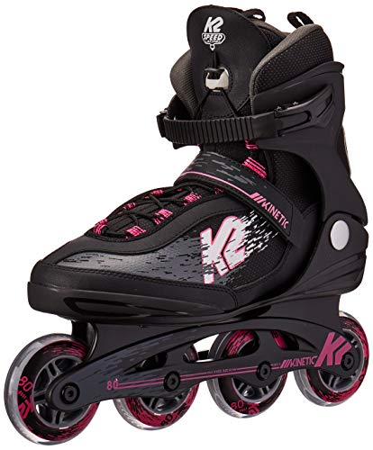 K2 Skate Women's Kinetic 80 Pro Inline Skate, Black Pink, 11