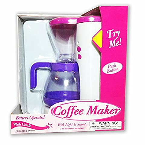 Battery Operated, Push Button Lights and Sound Coffee Maker (Push Button Sound Maker)