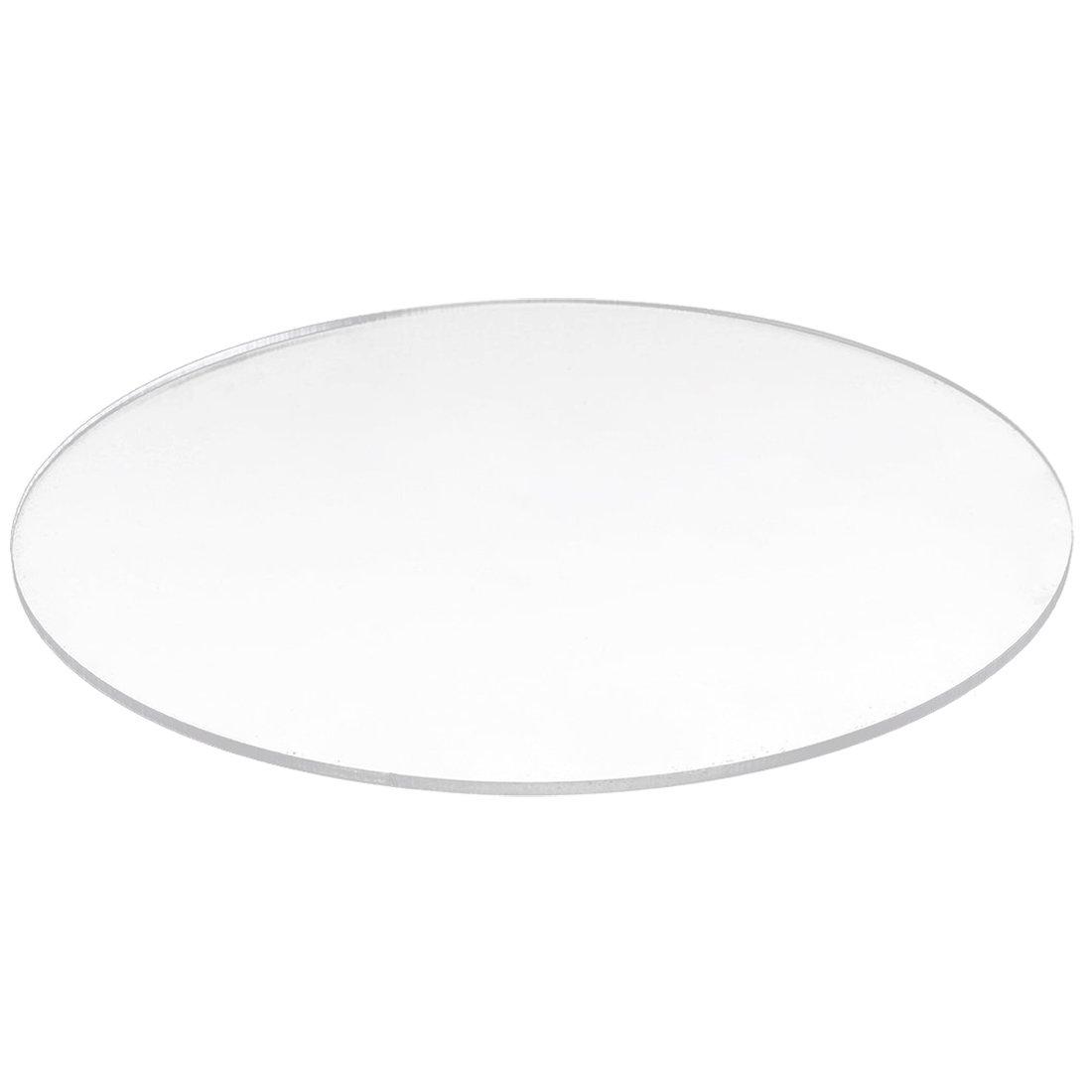 Acrylic round Disc - TOOGOO(R)Transparent 3mm thick Mirror Acrylic round Disc Di¨¢metro:80mm
