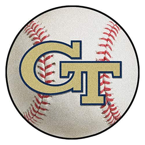 FANMATS NCAA Georgia Tech Yellow Jackets Nylon Face Baseball Rug