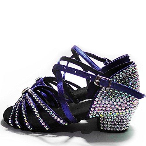 main enfants diamant chaussures latine chaussures de danse latine avec des chaussures de diamant nouvelles filles pour enfants Antidérapant ( Color : E , Taille : 35 )