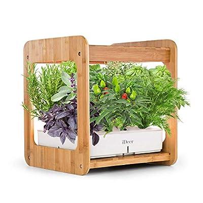 IDEER LIFE Mee Kitchen, Smart Indoor Gardening System w/LED Plant Grow Light, Mini Indoor Herb Garden, Hydroponics Indoor Gardening Kit w/Pod Kit, Nutrients, Not Contain Seeds -12 Plants