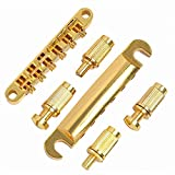 1set ABR1 Style Tuneomatic Bridge & Tailpiece Gold for Gibson Les Paul Gear Replacement