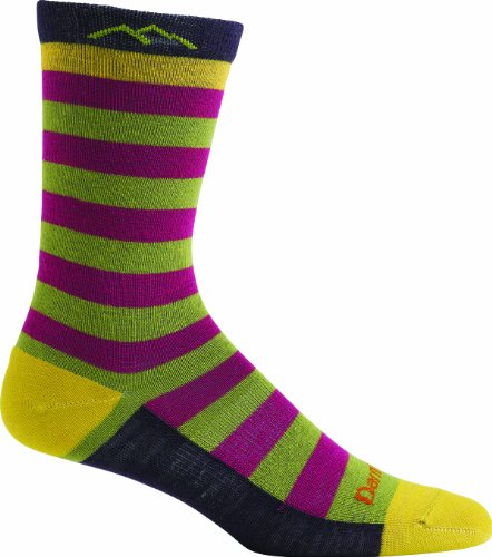Darn Tough Women's Merino Wool Good Witch Crew Light Sock, Small(4.5-7), Piper Purple