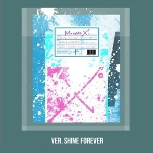 Monsta X - [Shine Forever] 1st Repackage Album A Version - Shine Forever CD+1p Folding Bromide(A Ver Only)+88p Booklet+1p Photocard+9p Sticker+1p Pre-Order Poster(On-Pack) K-POP Sealed (Shine Pack)