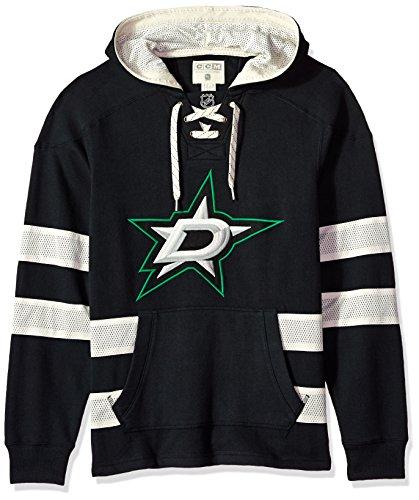 adidas NHL Dallas Stars CCM Pullover Jersey Hood, Black, XX-Large ()