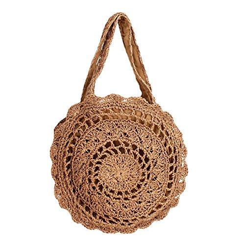 Meliya - Bolso de tela para mujer Marrón Claro