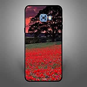 Samsung Galaxy C5 Red Garden Dark Clouds
