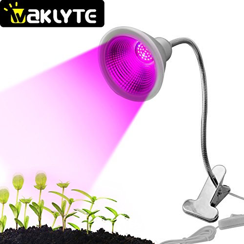 Waklyte Plant Growing Lamp - 12W | 30 LED Bulbs | 700 Lumens | IP65 Waterproof | 360° Flexible Gooseneck UV Plant Grow Light for Indoor Plants, Greenhouse, Office, Potted, Garden, Greenhouse