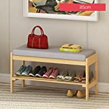 Household Shelves Storage Shoe Racks Modern Multi-storey Wooden Shelves 85cm ( Color : A )