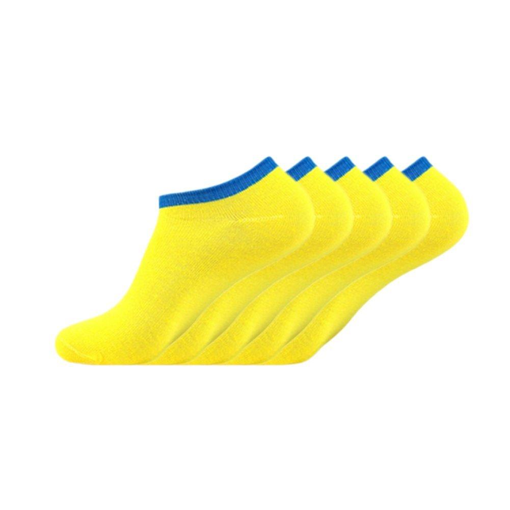 Xuxuou 5pcs calcetines inferiores amarillos de los hombres calcetines invisibles de Corea: Amazon.es: Ropa y accesorios
